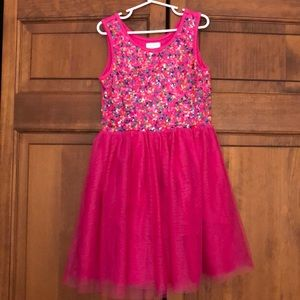 Girls size 7/8 pink sequined dress